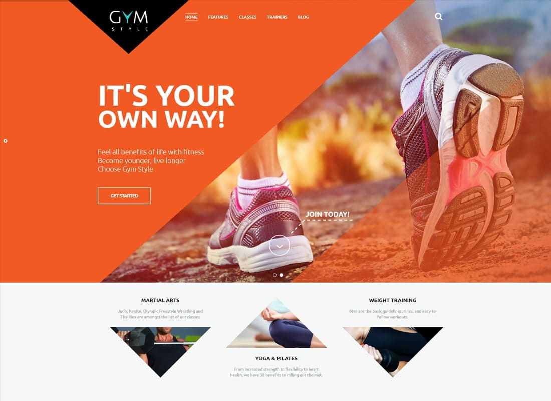 GYM | Sport & Fitness Club WordPress Theme Website Template