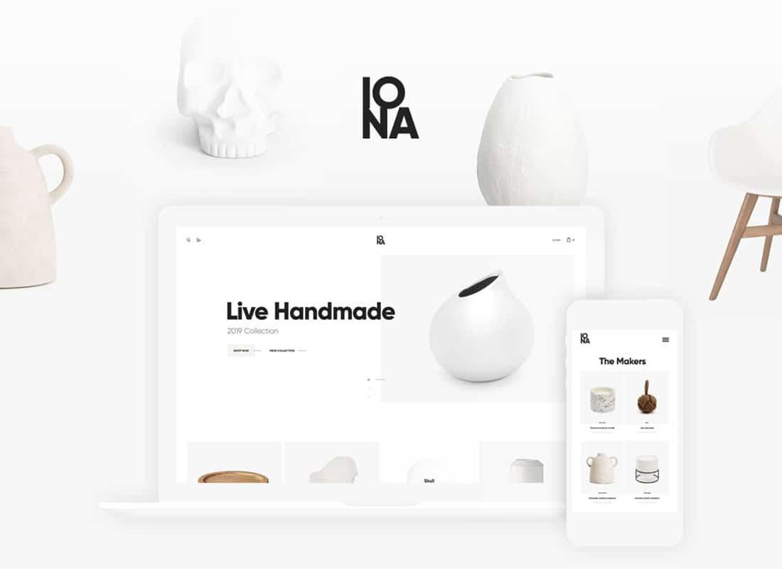 Iona - Handmade & Crafts Shop WordPress Theme Website Template