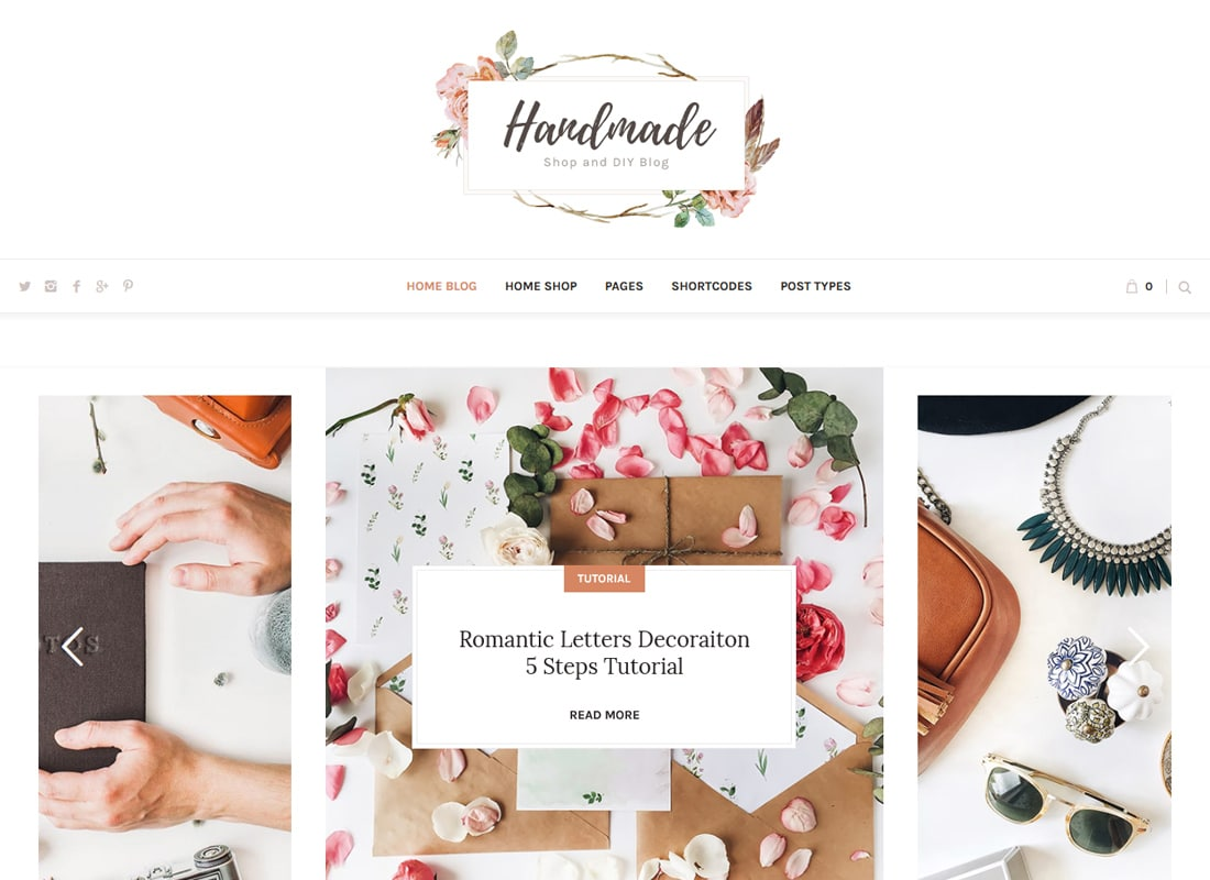 Handmade Shop | Handicraft Blog & Creative Shop WordPress Theme Website Template