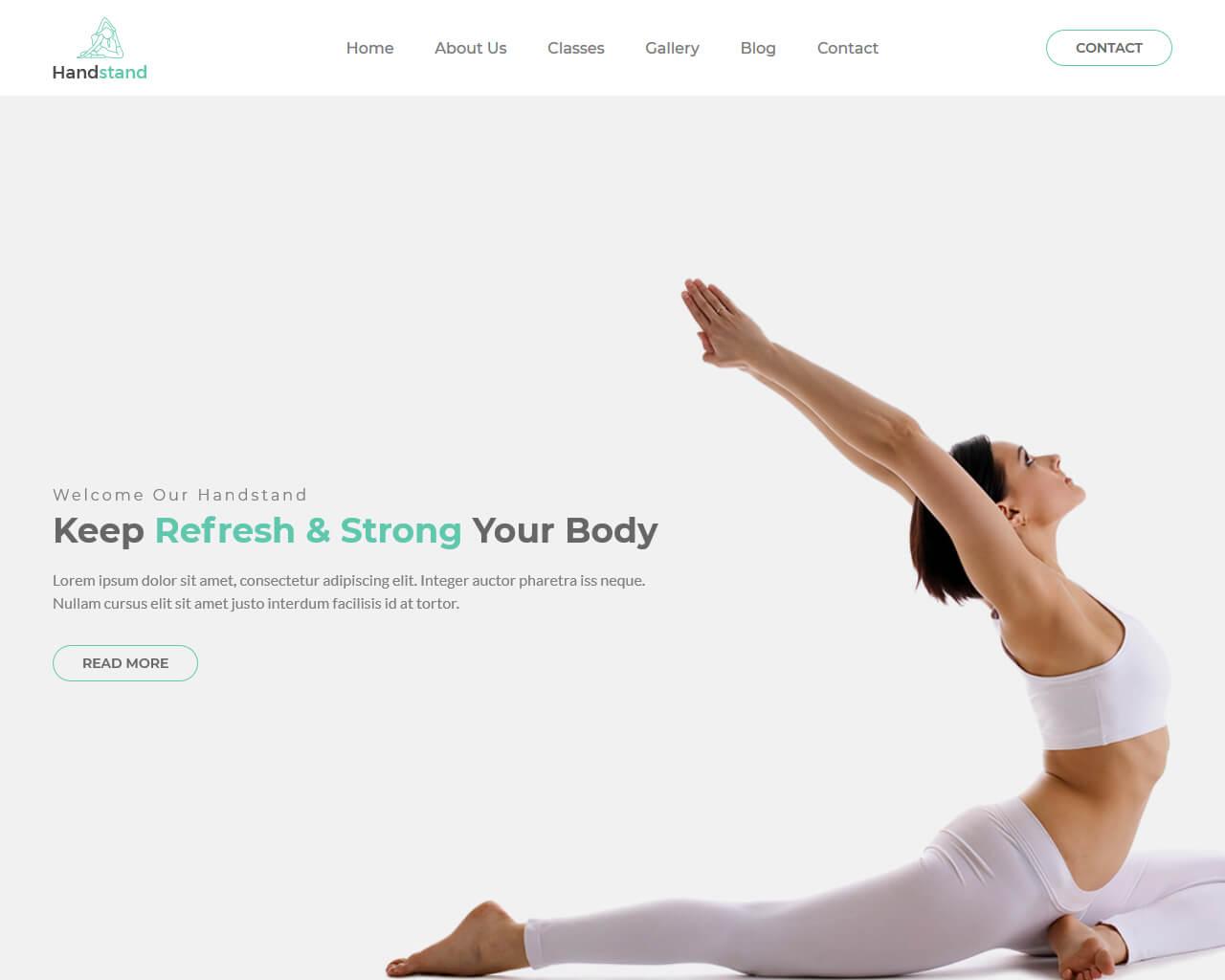 HandStand Website Template