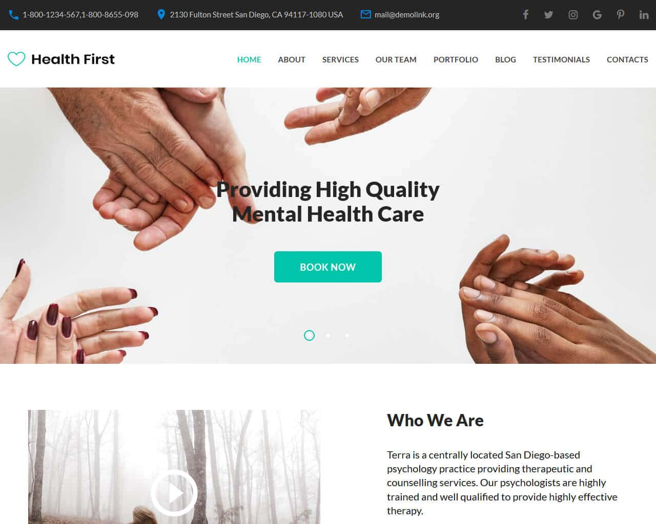Health First Website Template