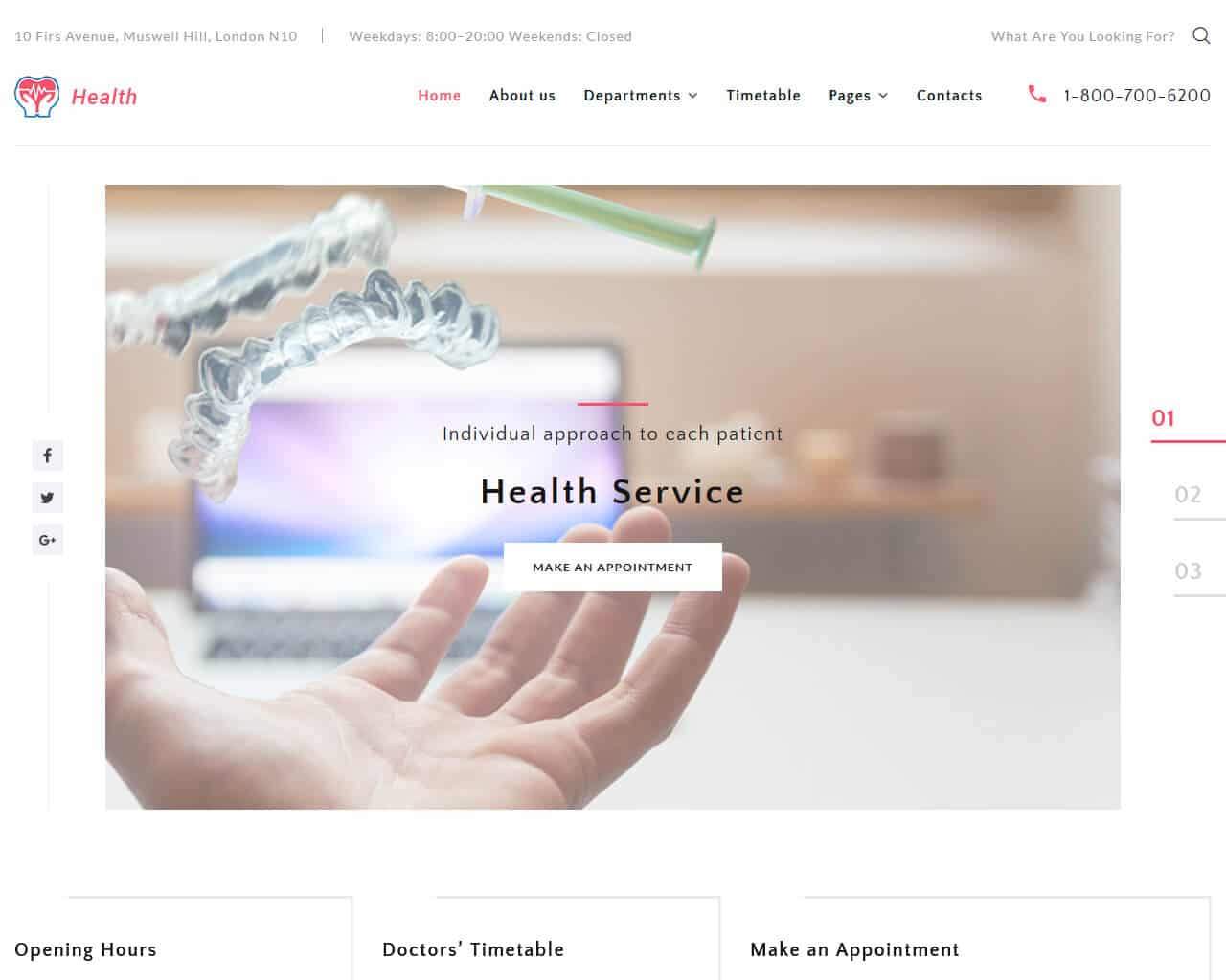 Health Website Template