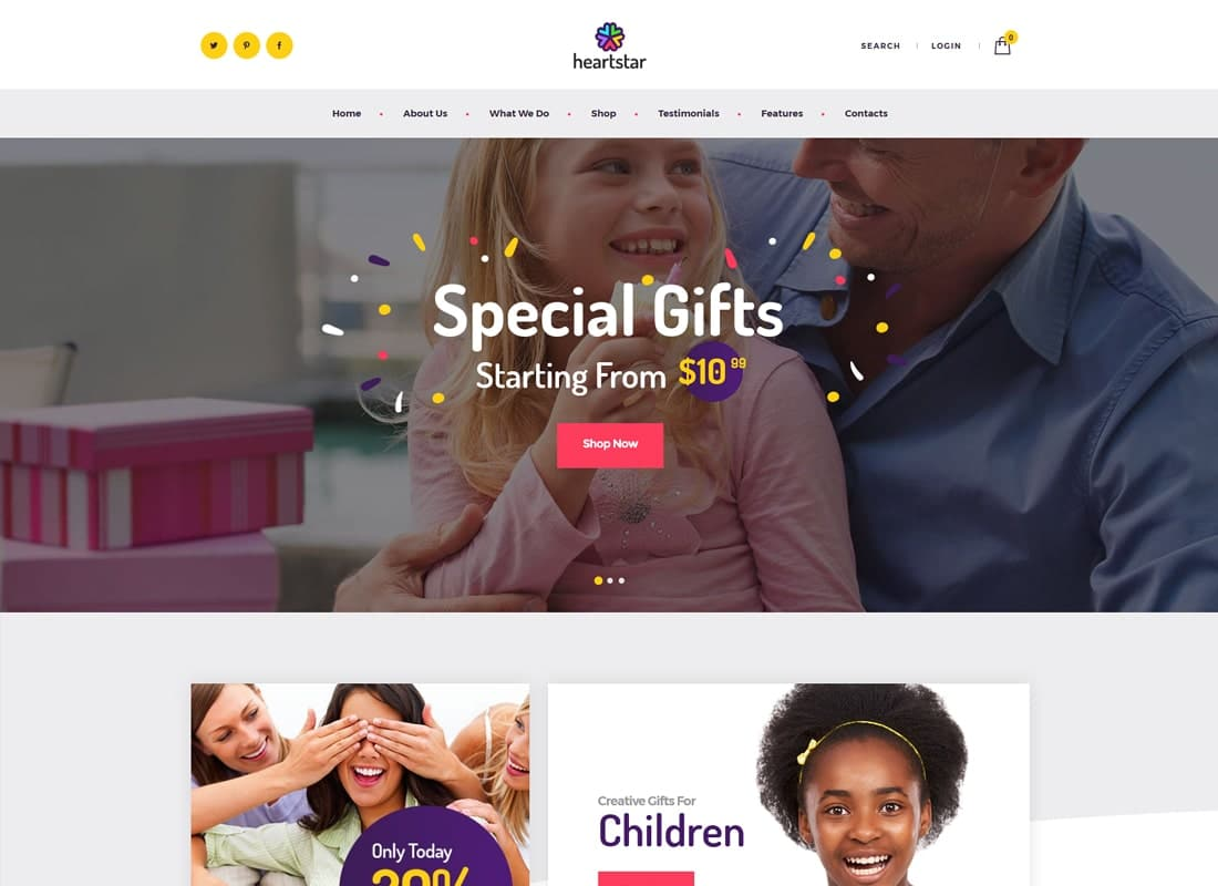 HeartStar | Gift Shop & Event WordPress Theme Website Template