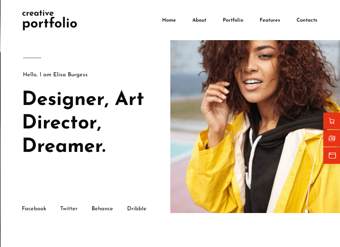 Helion - Creative Portfolio Elementor Template Kit Website Template