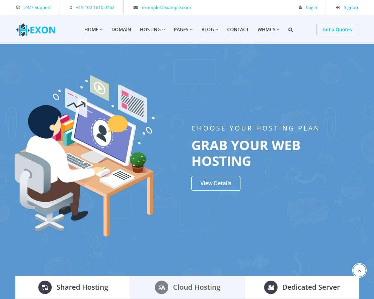 HEXON Website Template