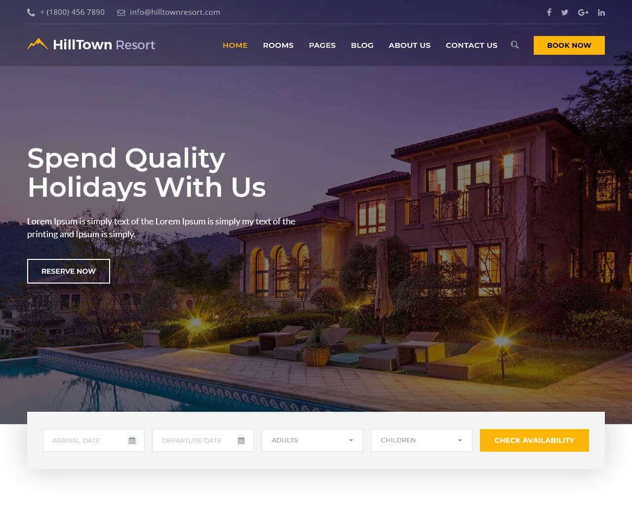 20 Hotel Website Templates to Build the Best Booking Website 2019