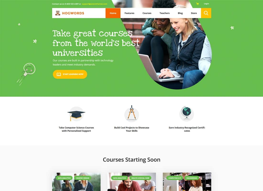 Hogwords | Education Center WordPress Theme Website Template
