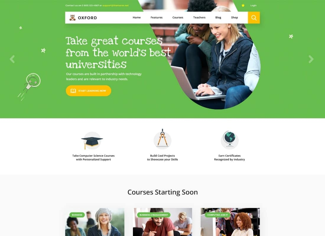 Hogwords   Education Center WordPress Theme Website Template