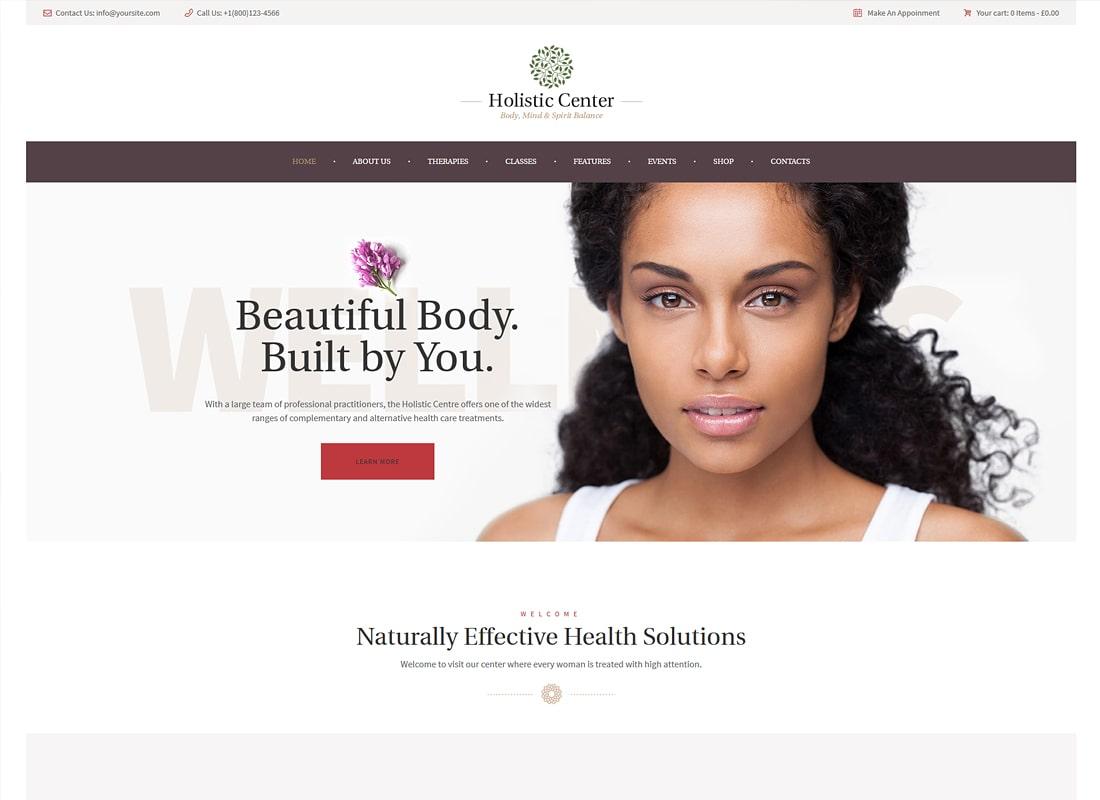 Holistic Center / Wellness and Spa WordPress Theme  Website Template