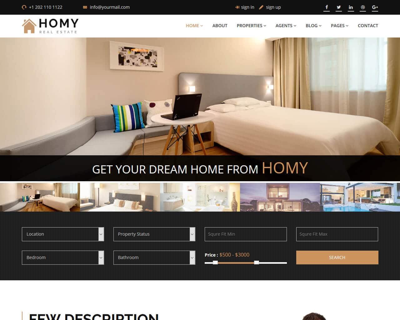 Homy Website Template