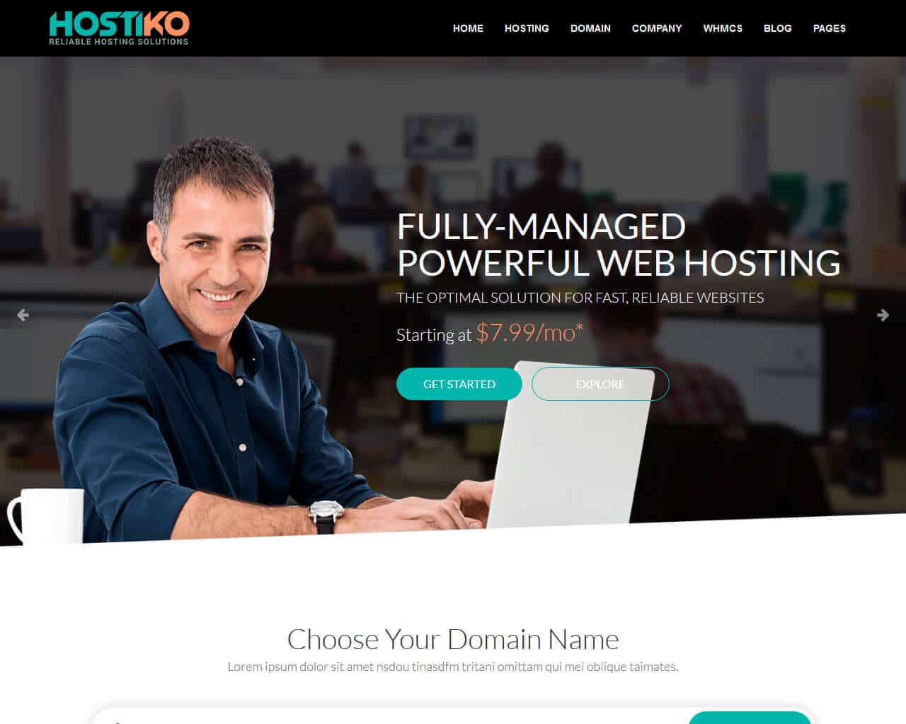Hostiko Website Template