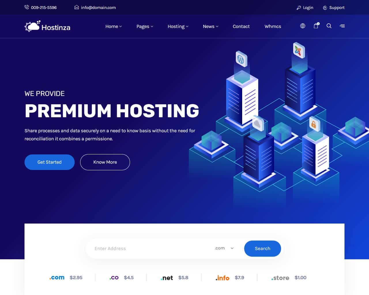 Hostinza Website Template