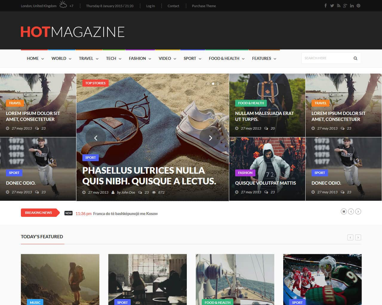 Hotmagazine Website Template