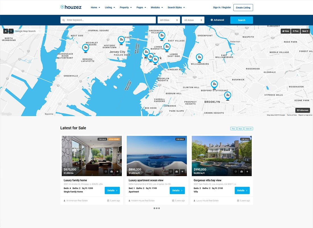 Houzez - Real Estate WordPress Theme Website Template
