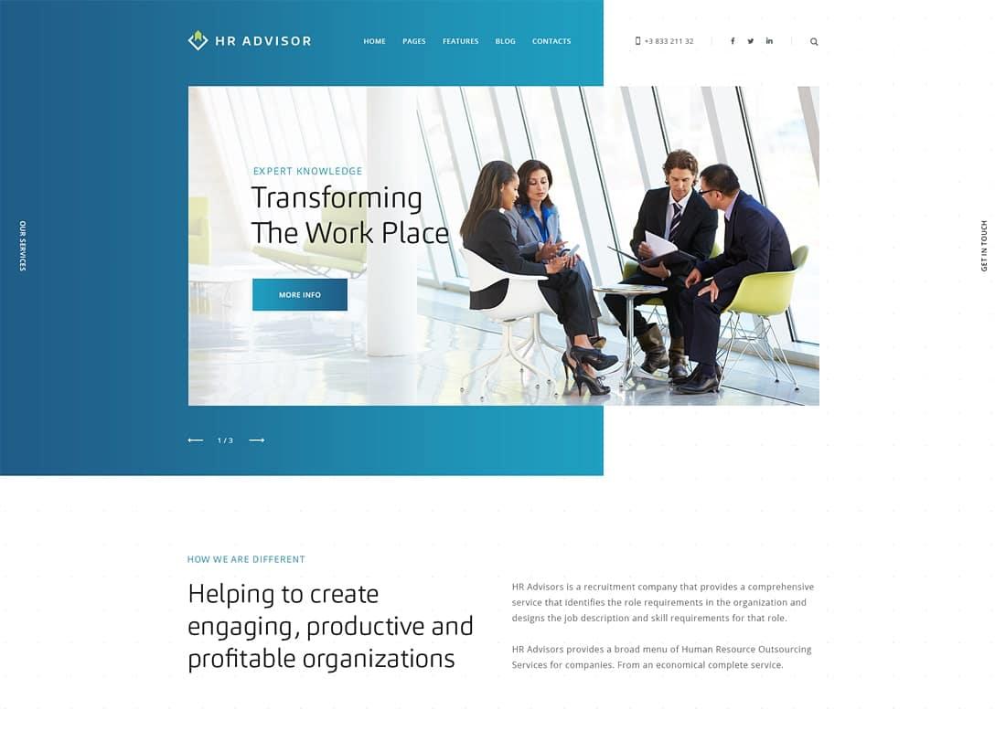 HR Advisor | Human Resources & Recruiting WordPress Theme Website Template