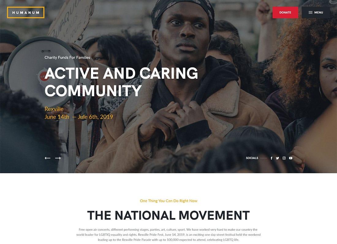 Humanum - Human Rights WordPress Theme Website Template