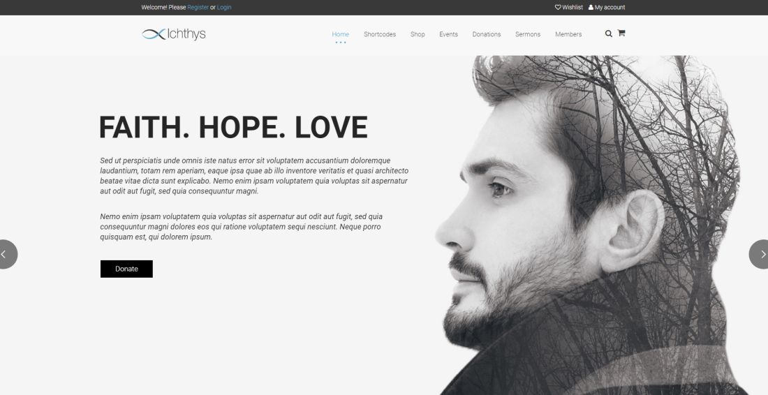 Ichthys | Church WordPress Theme Website Template