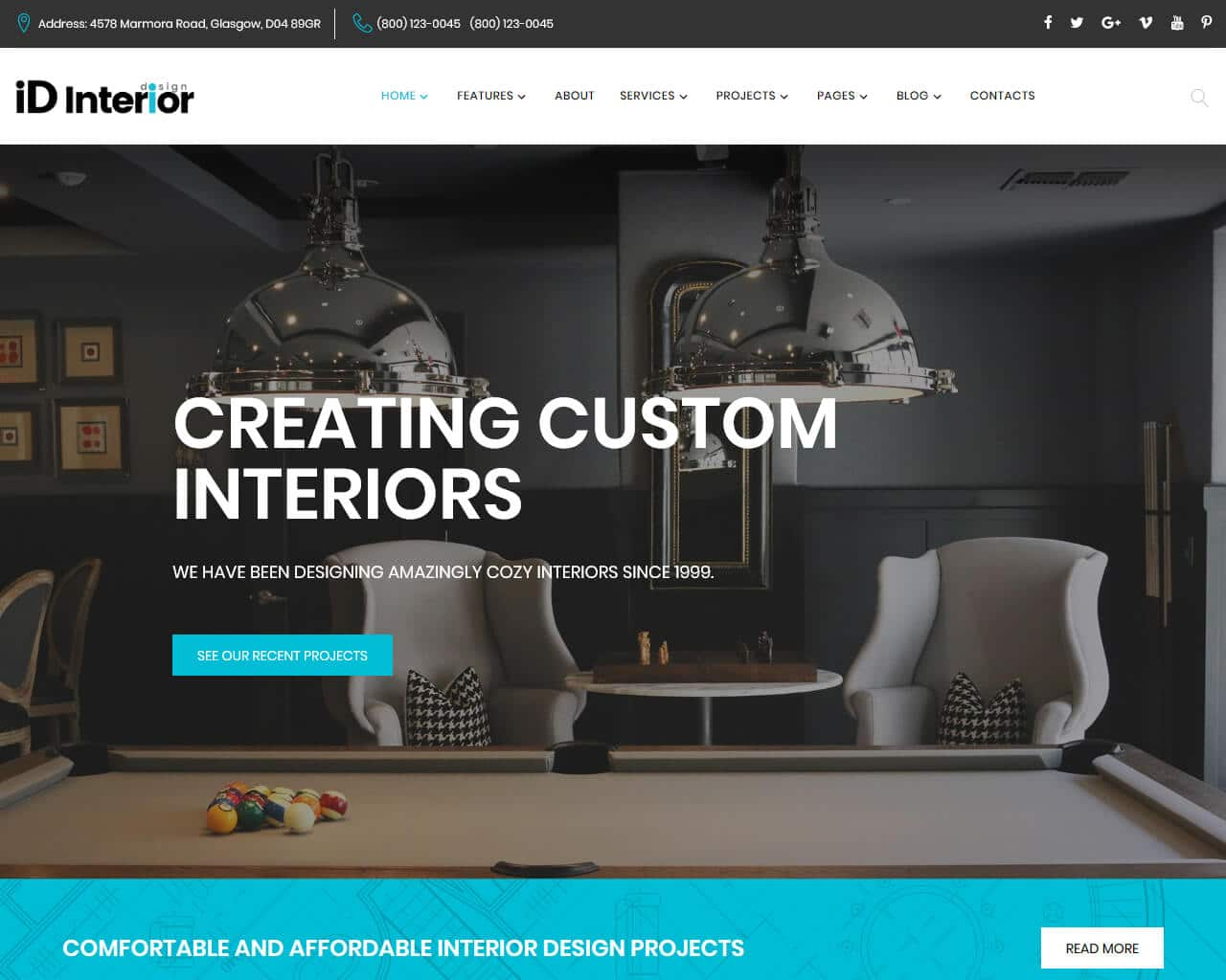 ID Interior Website Template