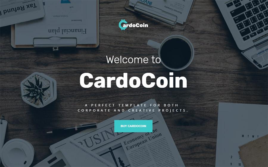CardoCoin Website Template