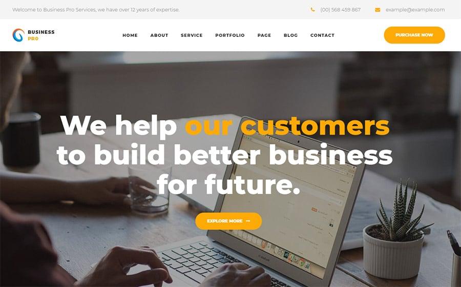 Business Pro Website Template