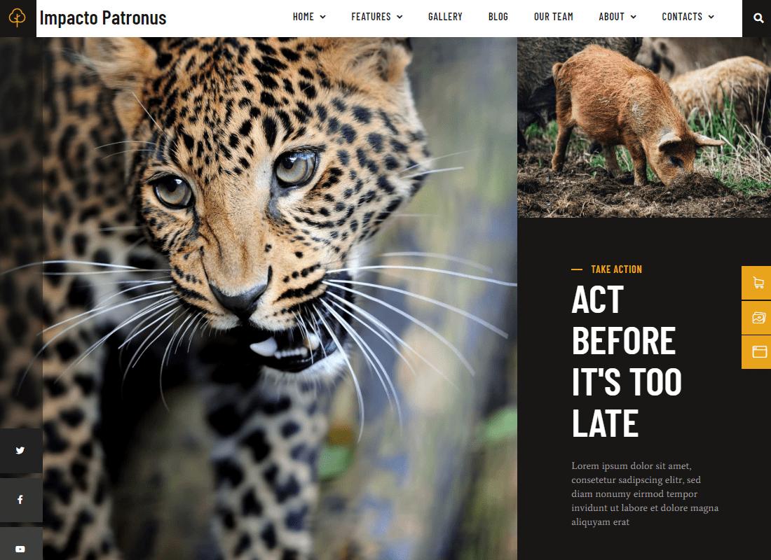 Impacto Patronus - Petitions & Social Activism Template Kit Website Template