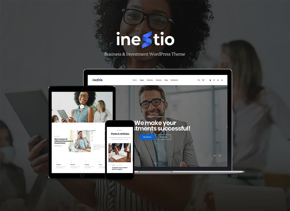 Inestio - Business & Creative WordPress Theme Website Template