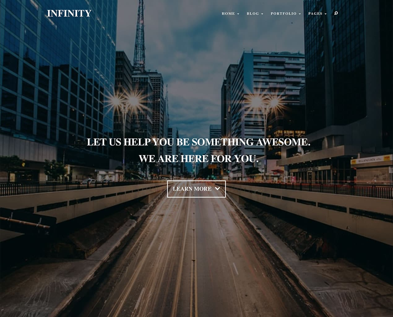 Infinity – Personal Bootstrap Template