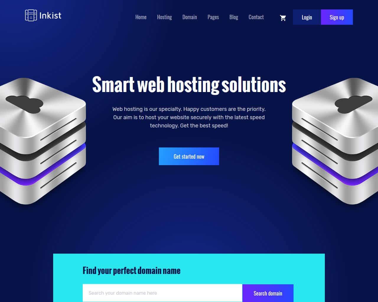 Inkist Website Template
