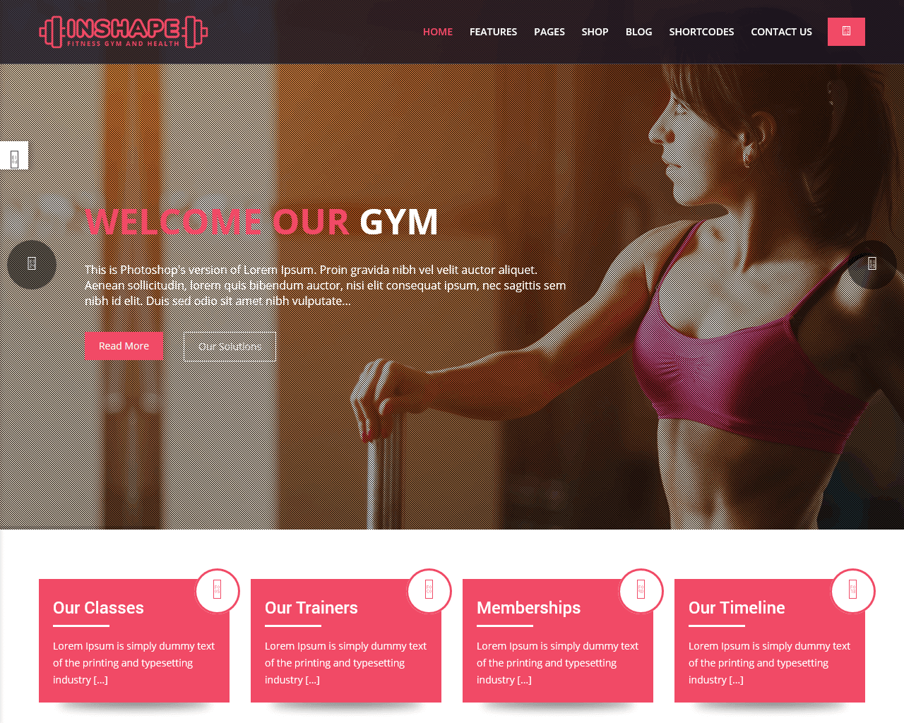 InShape Website Template