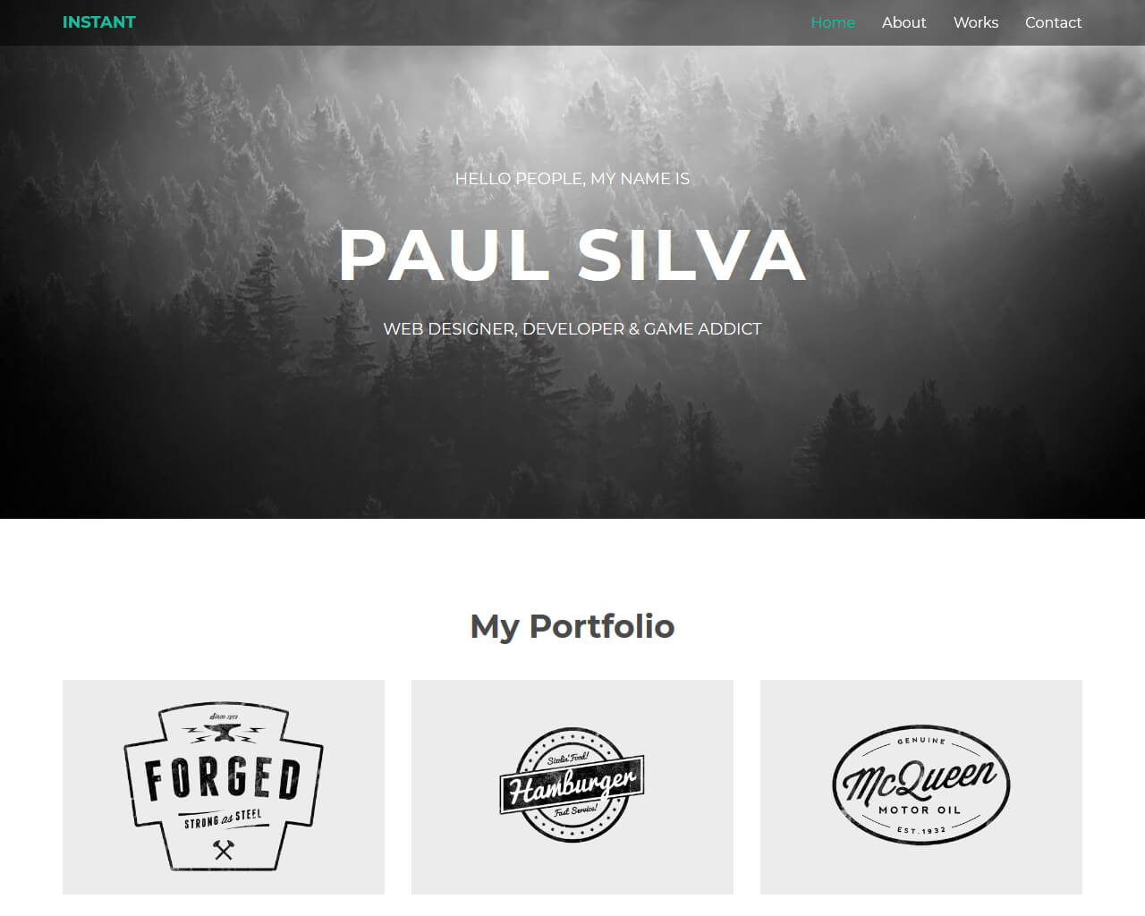 Instant – Bootstrap Personal Template