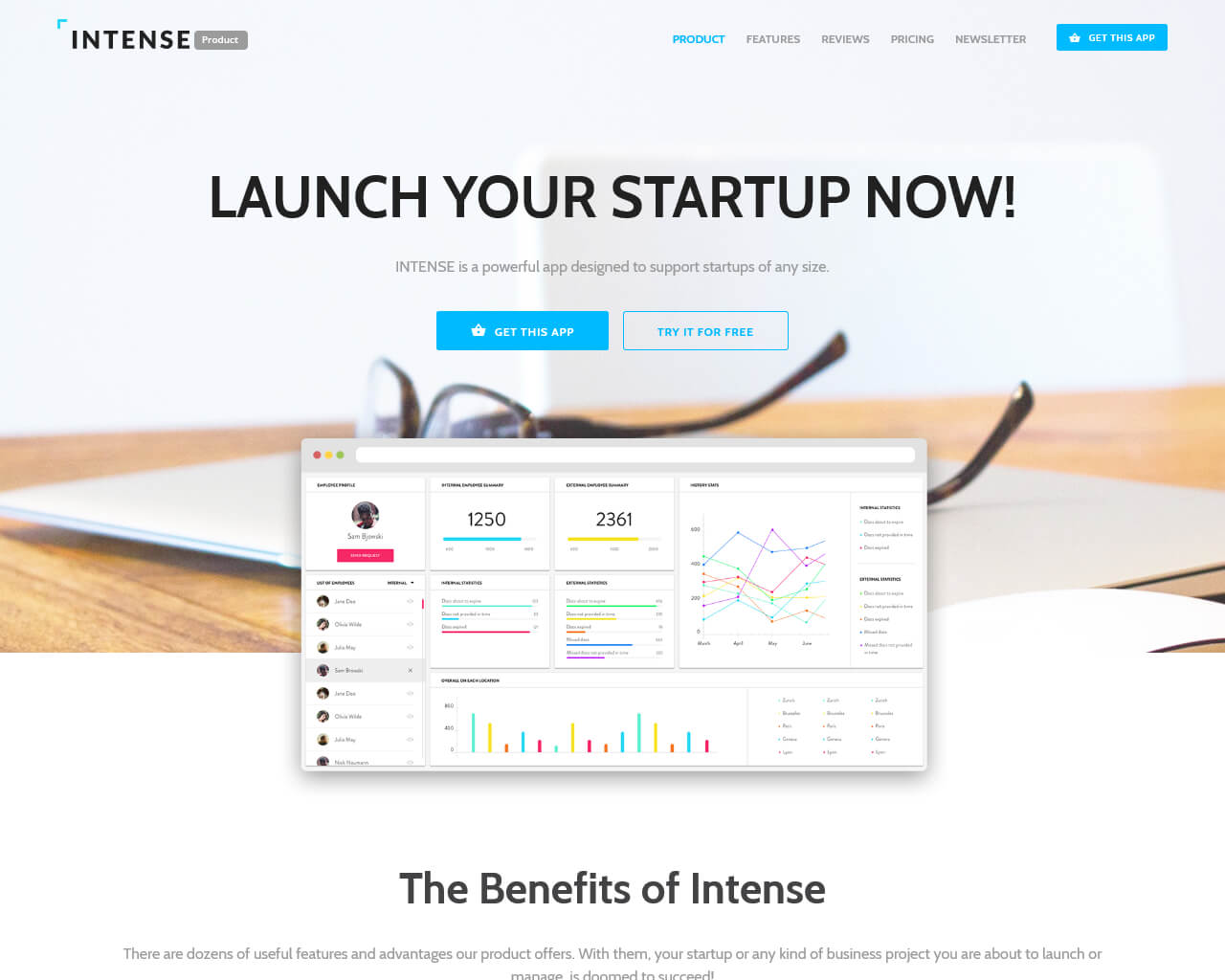Intense Website Template
