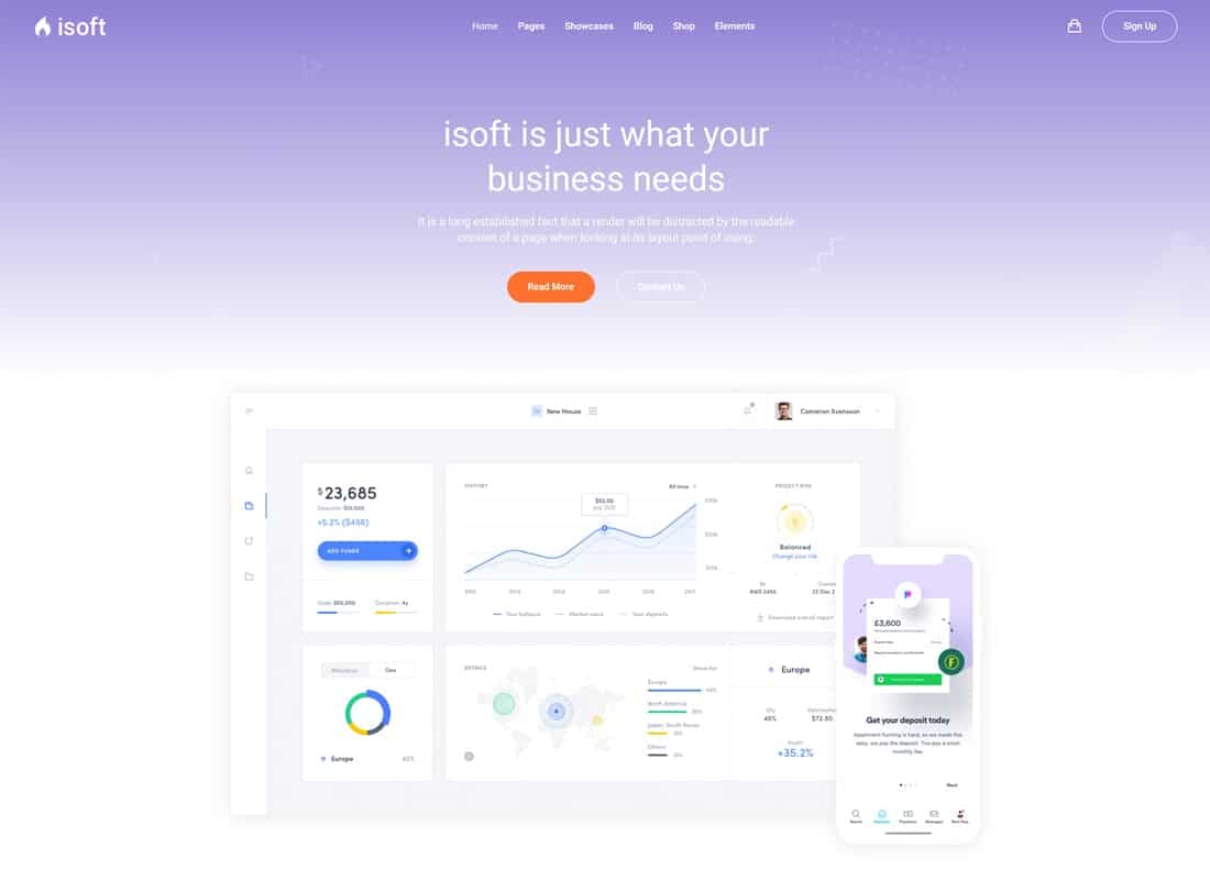 Isoft - Powerful Theme for Saas, App and Startups Website Template