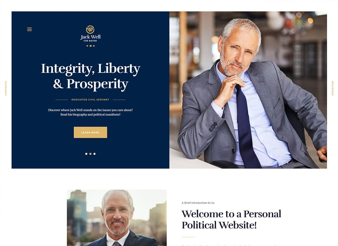 Jack Well | Elections Campaign & Political WordPress Theme Website Template