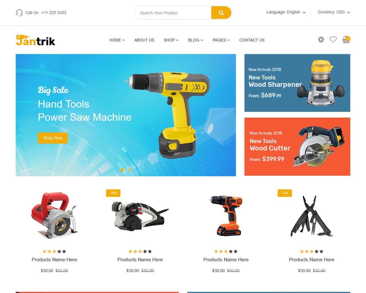 Jantrik Website Template