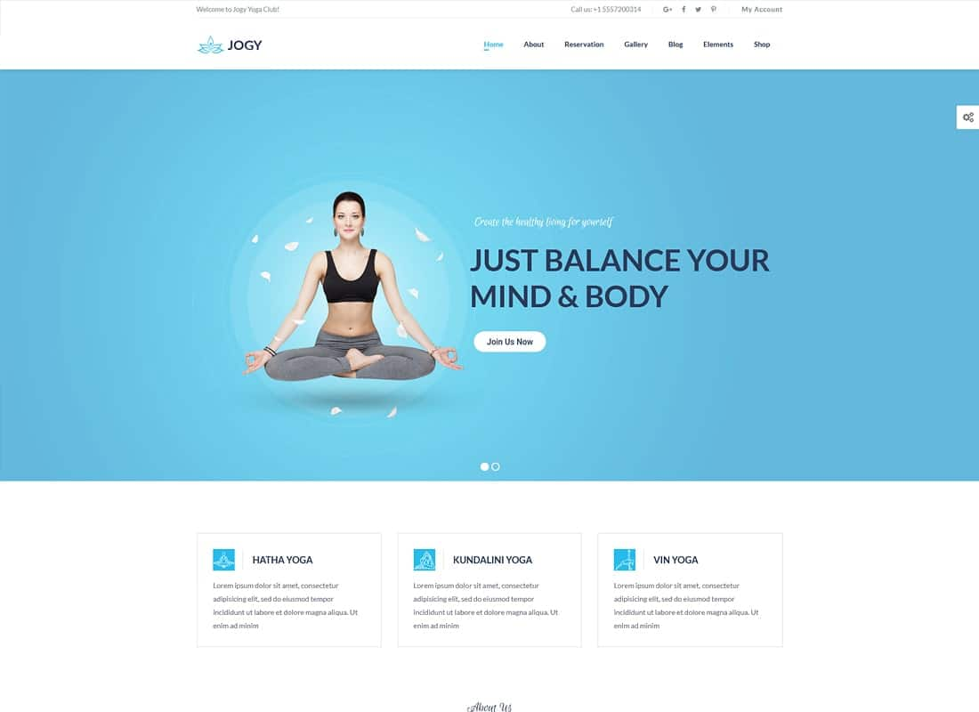 Yoga & Spa | Jogy Website Template
