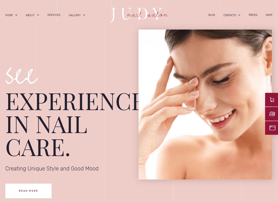 Judy - Beauty Salon Template Kit Website Template