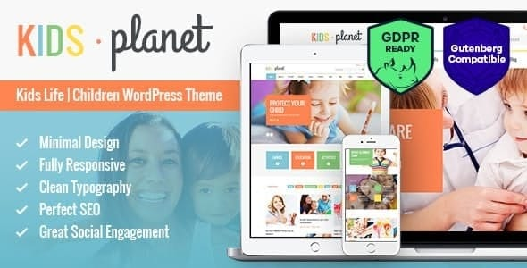 Kids Planet - A Multipurpose Children WordPress Theme for Kindergarten and Playgroup Website Template