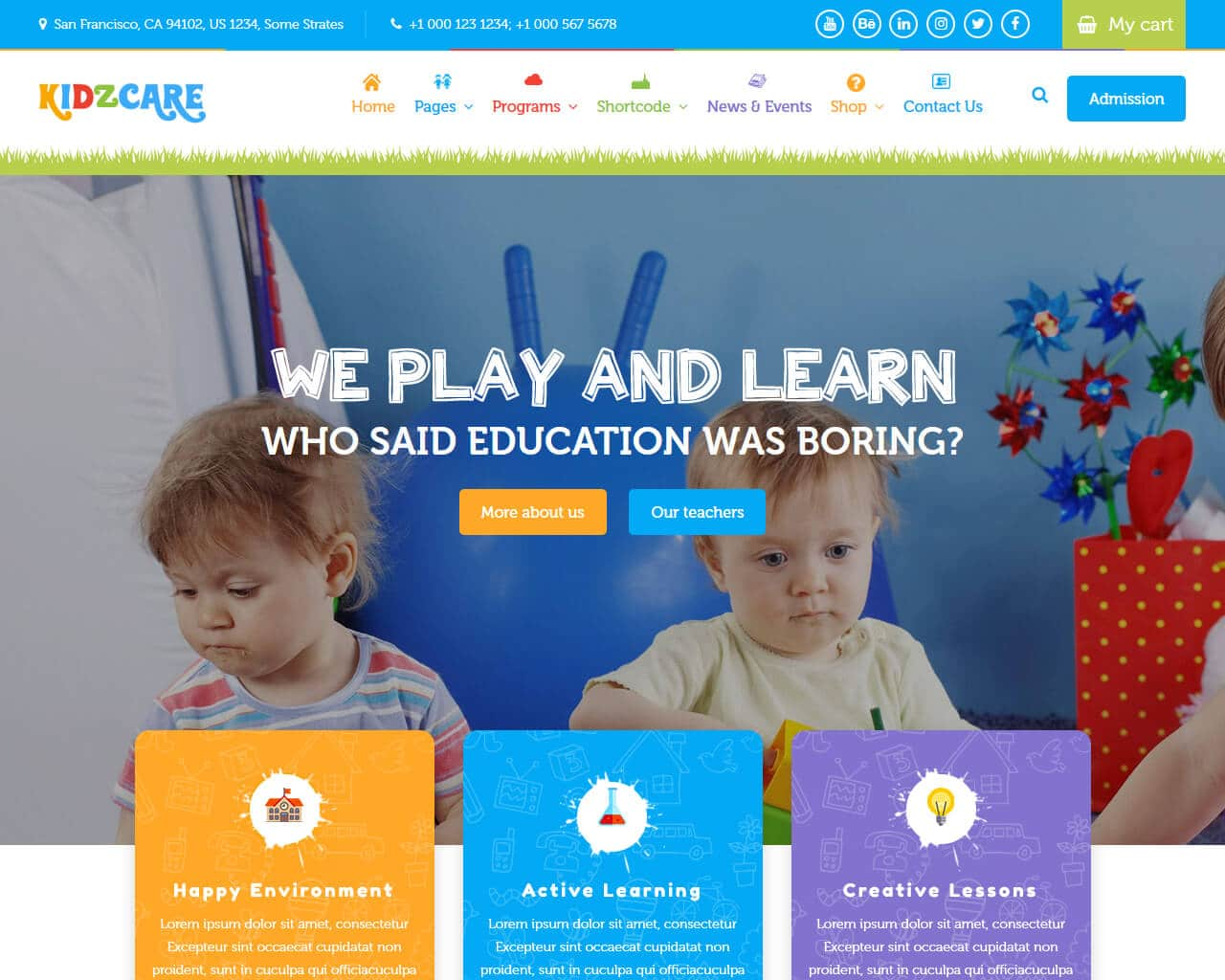 KIDZCARE Website Template