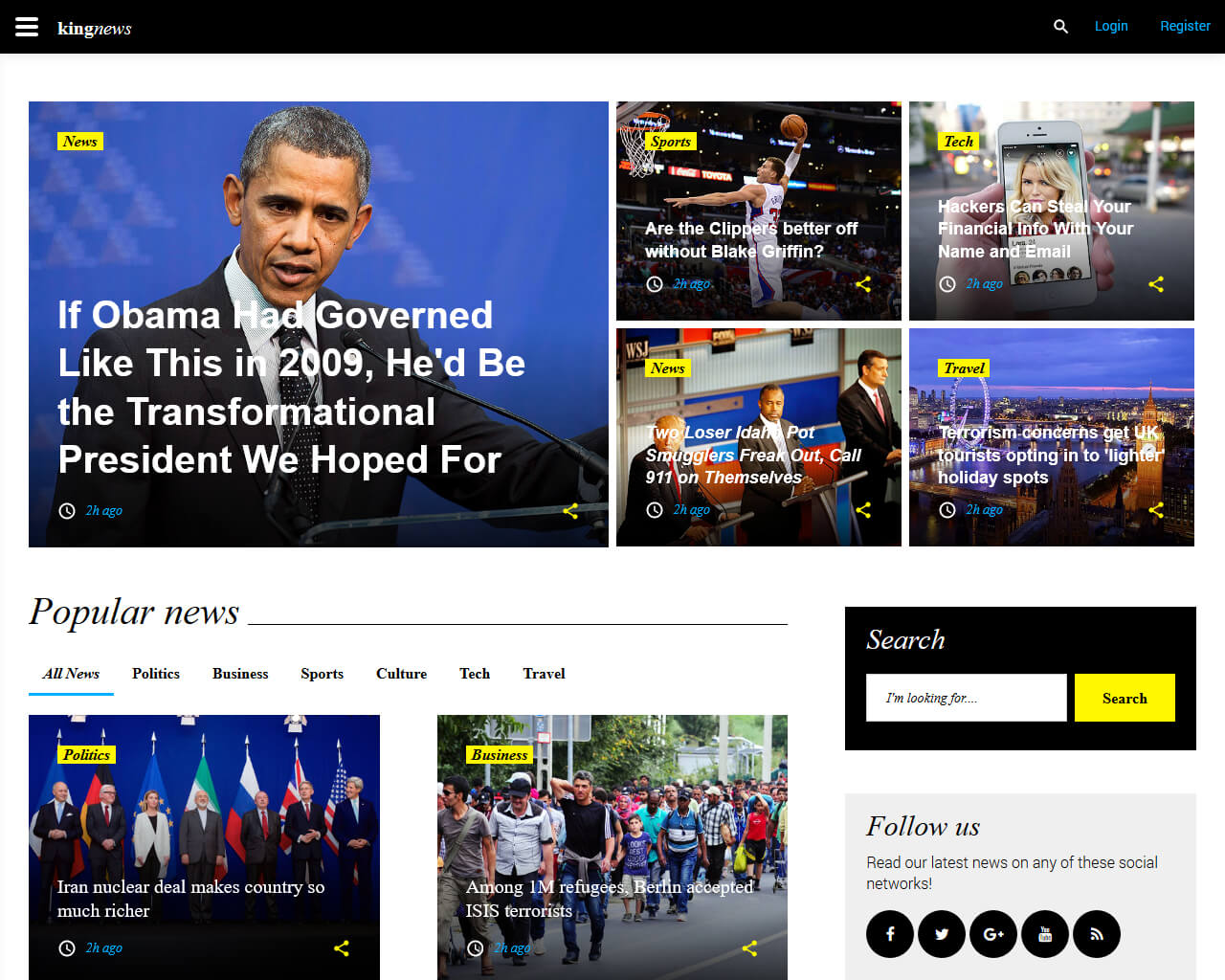 King News Website Template