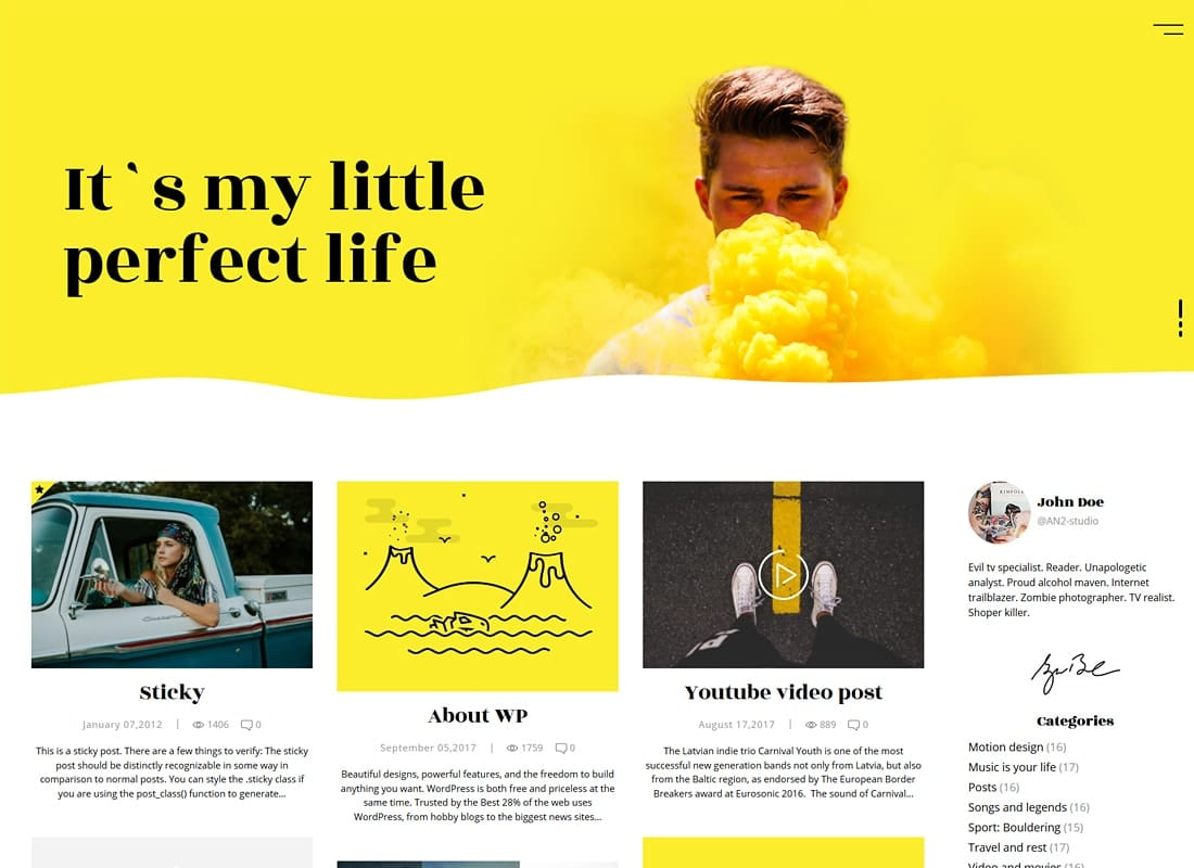 Koalogger - Simple WordPress Blog Theme + RTL Website Template