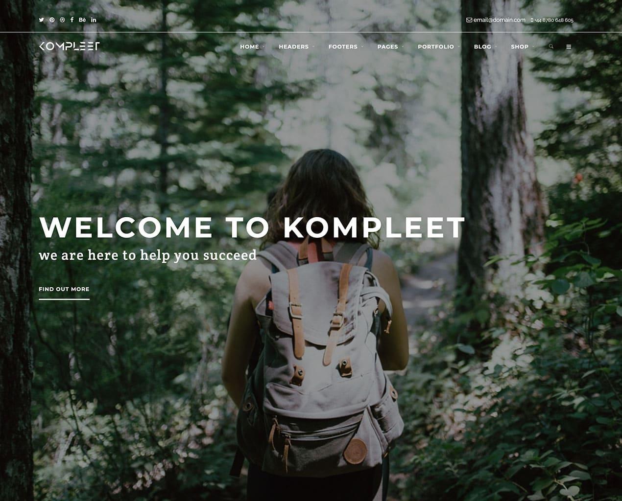 Kompleet – Free Multipurpose Bootstrap Template