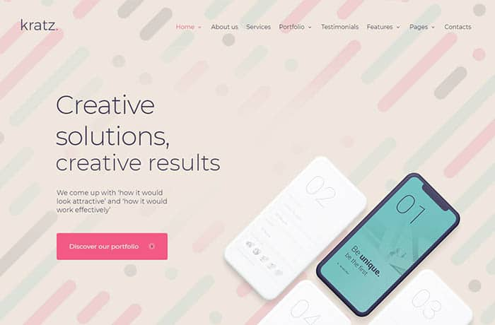 Kratz | Digital Agency Marketing and SEO WordPress Theme Website Template