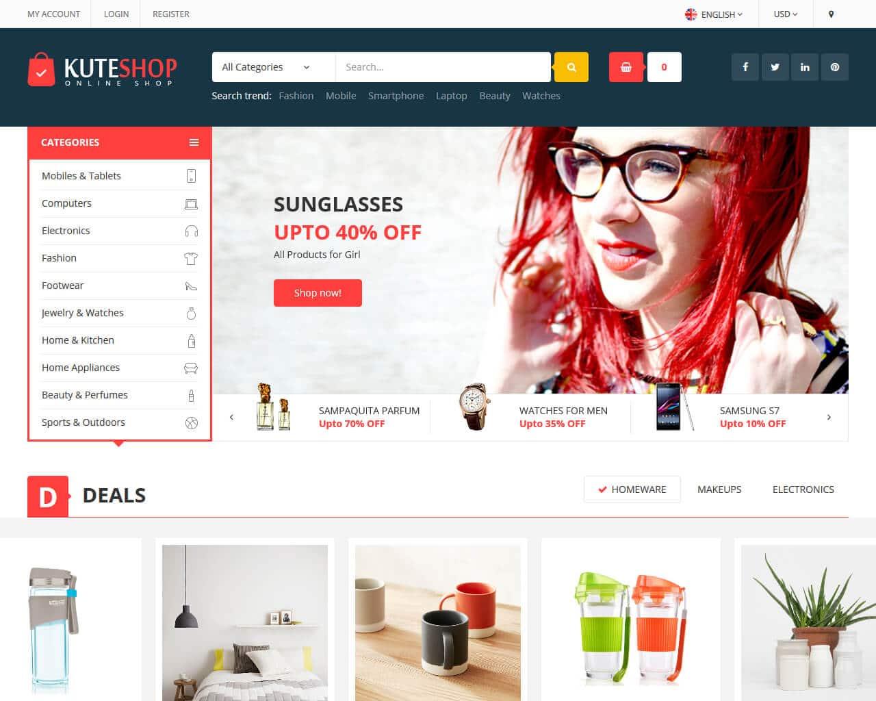 KuteShop Website Template