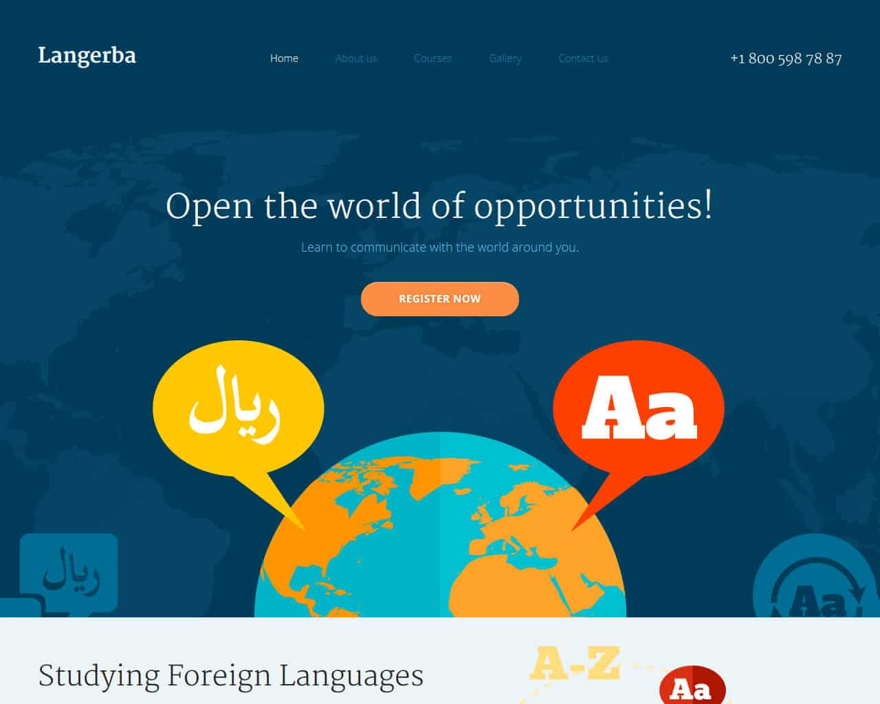 Langerba Website Template