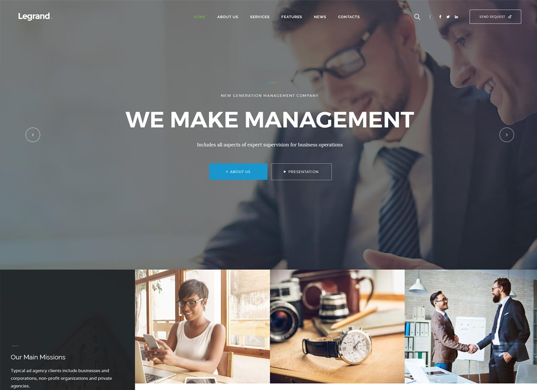 LeGrand | A Modern Multi-Purpose Business WordPress Theme Website Template