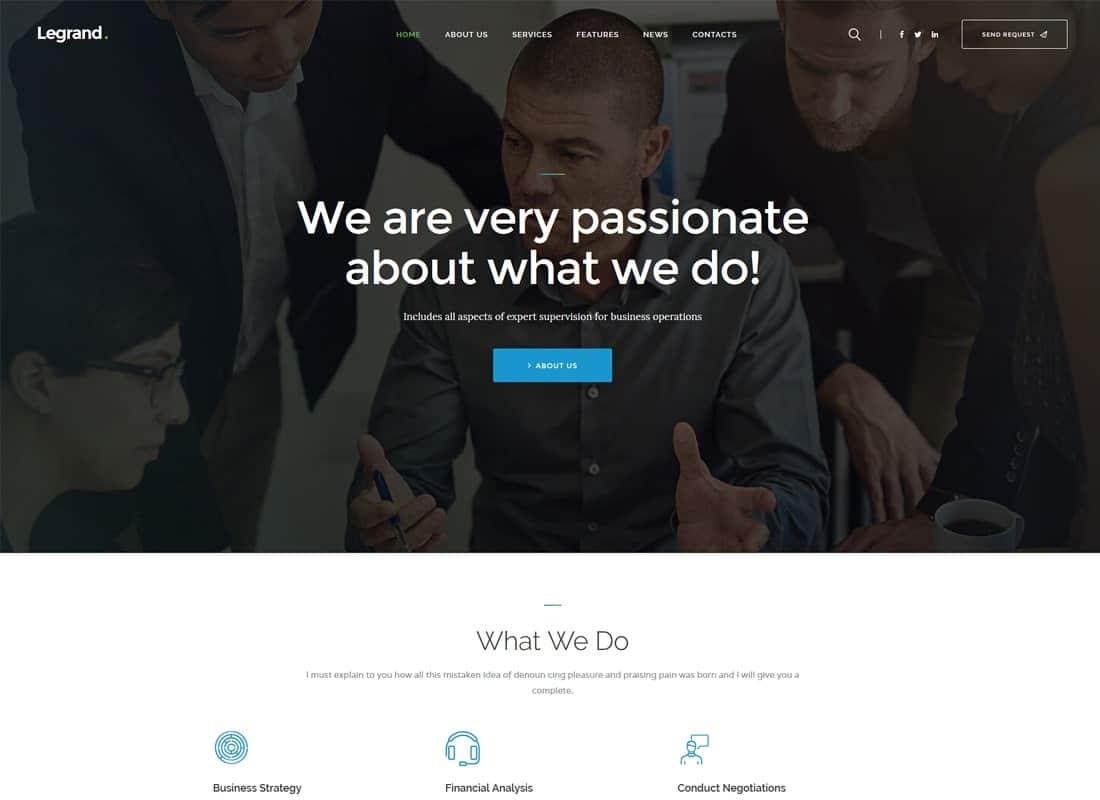 LeGrand   A Modern Multi-Purpose Business WordPress Theme Website Template