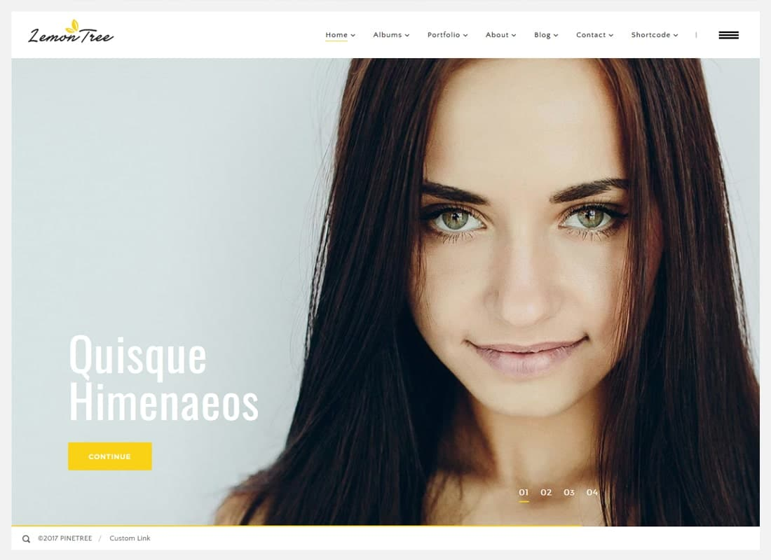 Lemontree | Photography & Portfolio WordPress Theme Website Template