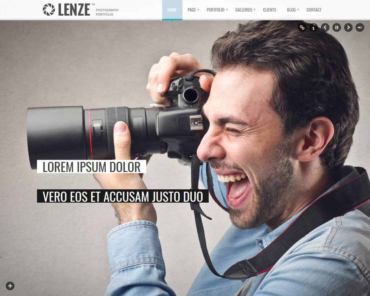 Lenze Website Template