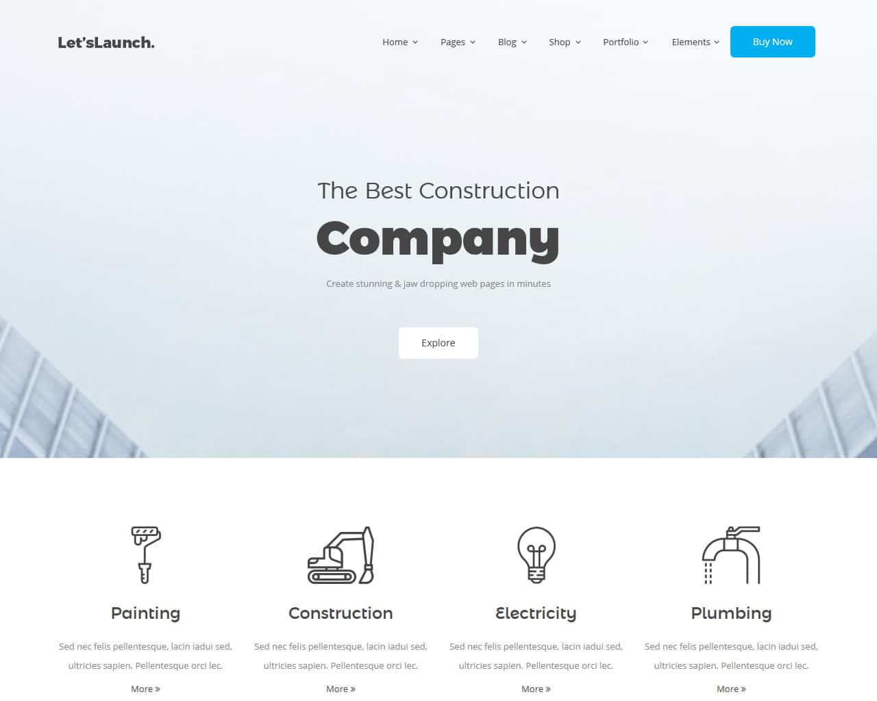 Letslaunch Website Template