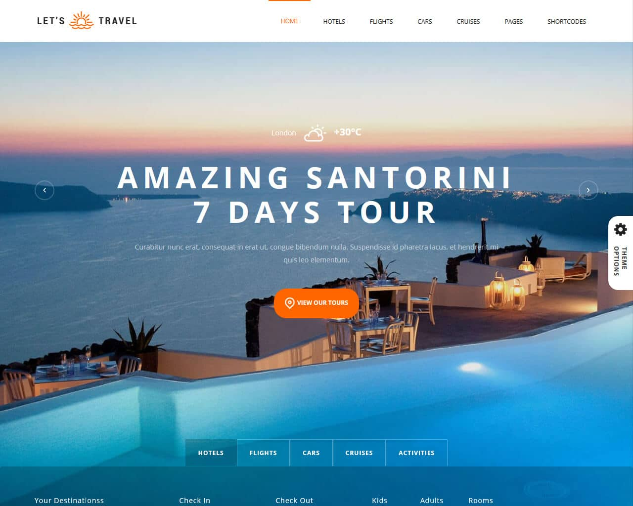 Let's Travel Website Template